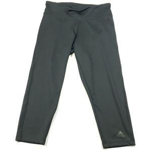 Adidas womens solid black capri leggings small
